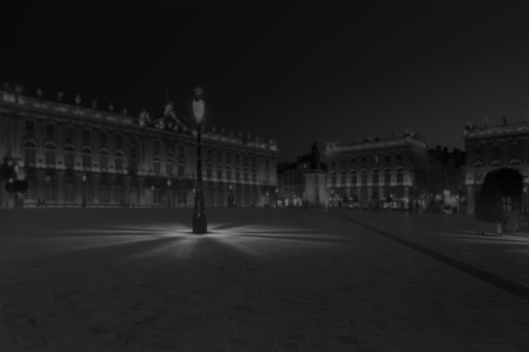 photo de la place Stanislas en noir et blanc